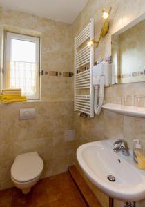 Ein Badezimmer in der Unterkunft Pension Zum-Ratsherrn