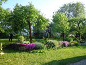 A garden outside penzión SEMAFOR