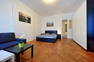 Area soggiorno di Belehradska Apartment