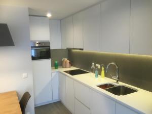 A kitchen or kitchenette at Studio Apartment Van Bunnenplein