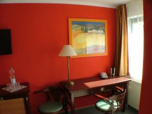 TV/Unterhaltungsangebot in der Unterkunft Hotel garni Pension Zur Lutherstadt