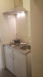 Küche/Küchenzeile in der Unterkunft Gästepension - Elsterland am Sport- und Freizeitpark