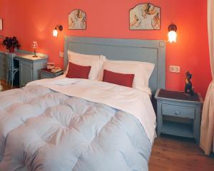 Letto o letti in una camera di B&B La Taupiniere