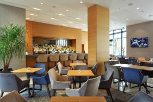 A restaurant or other place to eat at Radisson Blu Plaza Hotel Ljubljana