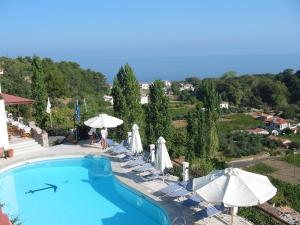 Θέα της πισίνας από το Ξενοδοχείο Δάφνη ή από εκεί κοντά