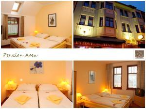 Ein Bett oder Betten in einem Zimmer der Unterkunft Penzion-Apex