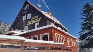 Pension Svoboda im Winter