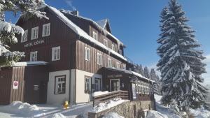 Hotel Děvín during the winter
