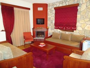 Χώρος καθιστικού στο Ξενοδοχείο Κόκκινος Βράχος