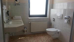 Ein Badezimmer in der Unterkunft Teichhotel