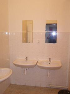 A bathroom at Hostel Praha Ládví