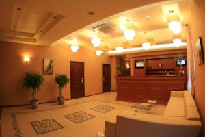 The lobby or reception area at Dnepr Hotel