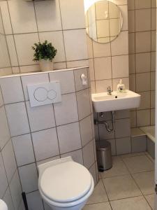 Ein Badezimmer in der Unterkunft Ferienwohnung im Herzen von Bremen