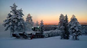Koskikara Cottage under vintern