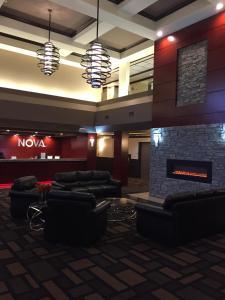 The lobby or reception area at Chateau Nova Peace River