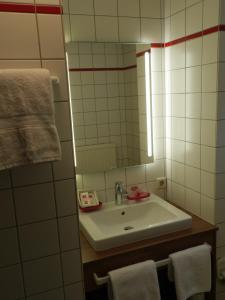 Ein Badezimmer in der Unterkunft Dinkelsbühler Kunst-Stuben