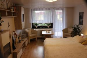 Ein Sitzbereich in der Unterkunft Rügenurlaub 1