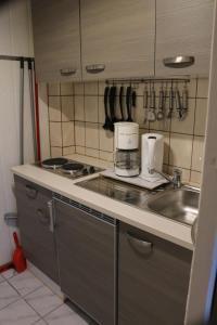 Küche/Küchenzeile in der Unterkunft Rügenurlaub 1