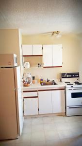 A kitchen or kitchenette at Badlands Motel