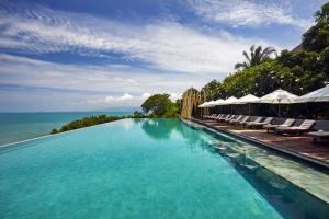 The swimming pool at or close to Six Senses Samui