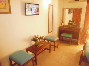 Χώρος καθιστικού στο Tassos Apartments