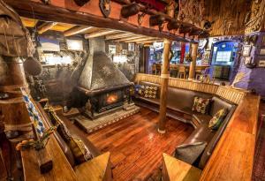 A seating area at Chimborazo Lodge