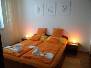 Postel nebo postele na pokoji v ubytování Apartmán Jaspis