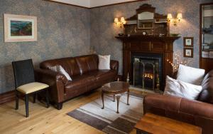 A seating area at The Park Guest House, Stornoway