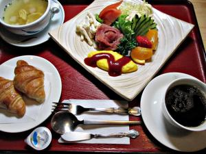 Breakfast options available to guests at Uwajima Regent Hotel