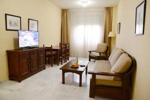 A seating area at Hotel San Pablo Sevilla
