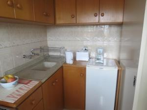 A kitchen or kitchenette at Apto 504 no Solar das Hortênsias