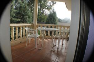 A balcony or terrace at Hotel Las Nieves