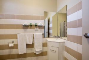 A bathroom at Enfield Hotel