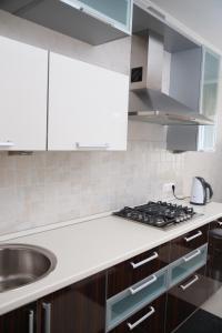 Кухня или мини-кухня в АпартОтель Ривьера-Саратов