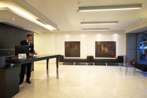 The lobby or reception area at Astoria