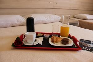 Breakfast options available to guests at Hotel Furlan
