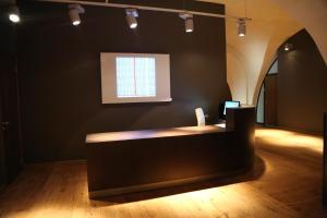 Svetainės erdvė apgyvendinimo įstaigoje Daugavpils Mark Rothko Art Center residences