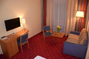 TV/Unterhaltungsangebot in der Unterkunft Hotel zum Goldenen Schiff