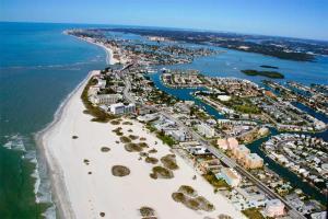 A bird's-eye view of Treasure Island Waterfront Condo