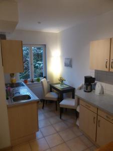 Küche/Küchenzeile in der Unterkunft Haus am Fluss