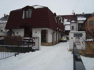Hotel u Kapra during the winter