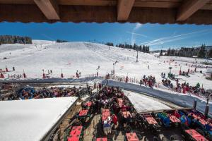 Chalet Hotel La Croix Blanche during the winter