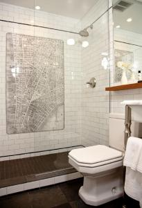 A bathroom at The Frederick Hotel Tribeca