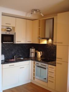 Küche/Küchenzeile in der Unterkunft Residenz Leuchtturm L15