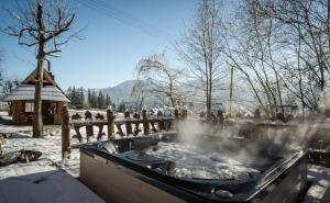 Obiekt Góralski Spa - Luksusowa willa z sauną i wanną z hydromasażem zimą