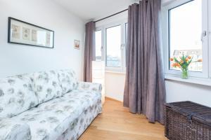 Ein Sitzbereich in der Unterkunft GreatStay Apartment - Maybachufer