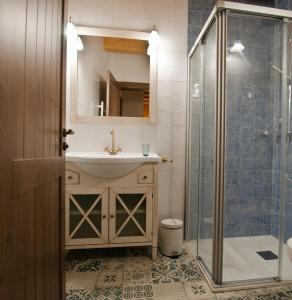 A bathroom at La Casa de Beli