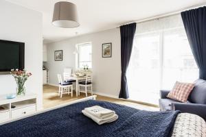 Część wypoczynkowa w obiekcie Marinus Apartments Gdansk