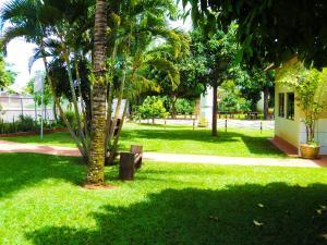 A garden outside Pousada Recanto da Amizade