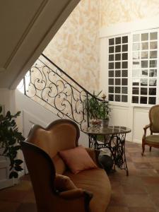 Coin salon dans l'établissement La Terrasse de la Grand'Rue - chambre d'hôtes -
